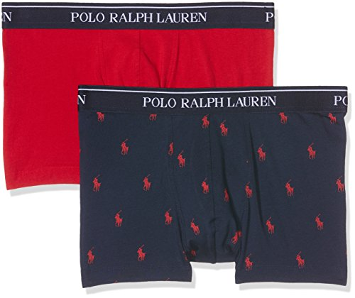 Polo Ralph Lauren Herren Shorts 2 Pack Trunk, 2, Mehrfarbig (RD/Nvy App V9PK2), Medium (Lauren Ralph Boxer-shorts)