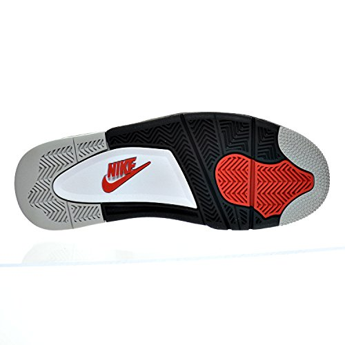 Nike Air Jordan 4 Retro Og, Chaussures de Sport-Basketball Homme, M Blanco (Blanco (white/fire red-black-tech grey))