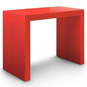 Table Console Nassau Laquée Rouge
