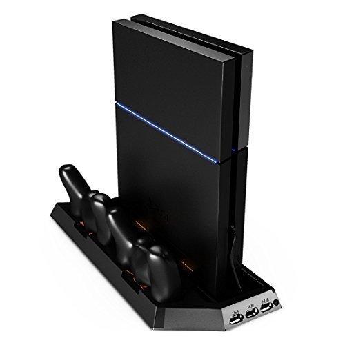 MP power @ Support vertical avec Ventilateur Refroidisseur Chargeur pour Sony PlayStation 4 PS4 Ps 4 console Manettes