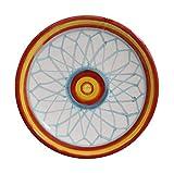 Piatto disegno geometrico-Piatto di ceramica decorato a mano diametro Cm 12.MADE in ITALY Toscana Lucca, certificato.Creato da Davide Pacini.