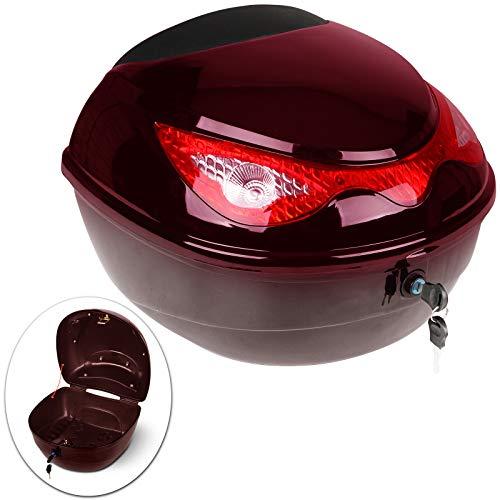 Baúl para Moto | 18 litros, Máx. 5kg, 40x37x28cm, Bandas Reflectantes| Topcase, Top Case, Maleta Moto, Cofre Moto (Bordo)