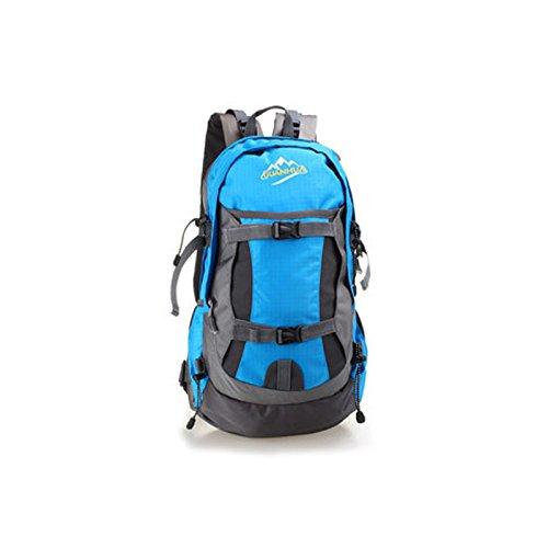 2016neu wasserdicht Outdoor Wandern Reiten Sport Rucksack Bergsteigen Camping Rucksack Outdoor Sport Tasche himmelblau