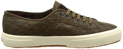 Superga 2750-quiltnylu, Basses Mixte Adulte Verde (Military Green)