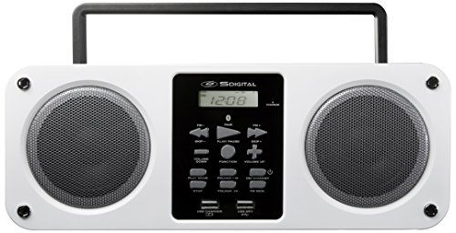 SDigital GB-3300 Mission tragbare Bluetooth Boombox (UKW-Radio, MP3, Powerbank, AUX-In) weiß