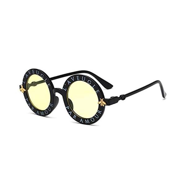 Wang-RX Steampunk Bee Kids Sunglasses Boys Girls Luxury Vintage Children Sunglasses Gafas redondas de sol 8 colores 4