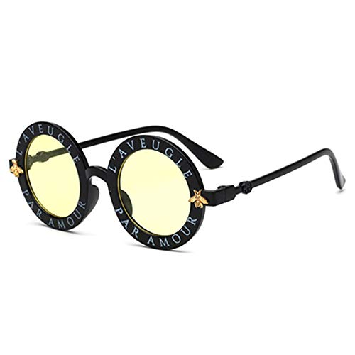 Wang-RX Steampunk Bee Kinder Sonnenbrille Jungen Mädchen Luxus Vintage Kinder Sonnenbrille Runde Sonnenbrille 8 Farben
