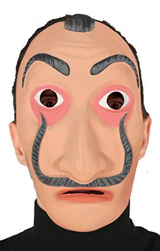Fancy Me Erwachsene, Damen Herren Berühmte Malermaske Dali Bank Raubüberfall TV Halloween Kostüm Maske (Berühmte Halloween Kostüm)