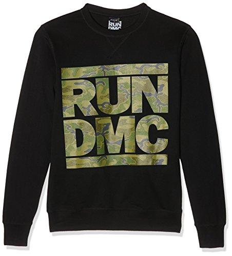 Hier Crewneck Sweatshirt (Mister Tee Herren Run Dmc Camo Crewneck Sweatshirts, Black, XXL)