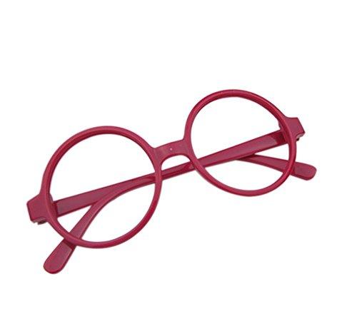Cosanter Klassische Retro Brille Rund Keyhole 40er 50er Jahre Vintage Look Baby Brillengestelle, Rot...