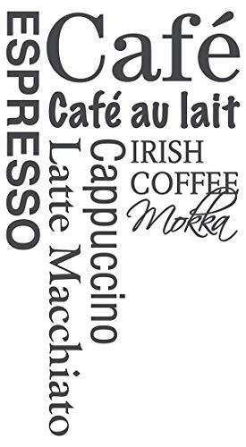 dekodino Wandtattoo Spruch Kaffee Küche Wandaufkleber Wandsticker