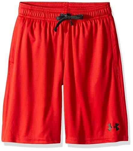 Under Armour Jungen Kurze Hose Prototype Wordmark Shorts, Rot, YXL, 1333604-600 - Jungen Gym Short