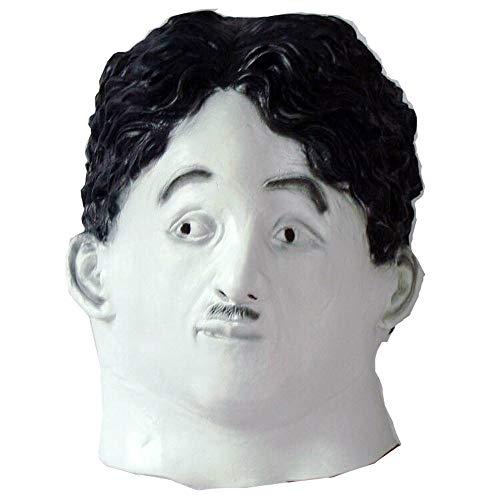 Chaplin Mask Charakter Kopfbedeckungen Film Lustig Cosplay Halloween Kostüm Requisiten ()