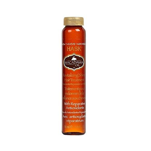 Hask Huile de Macadamia Shine Traiter fioles de 18 ml (Présentoir de 18)