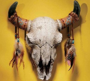 Western Wildlife Buffalo Skull Wall Sculpture Statue Inspired By Southwest Art (Xoticbrands) by Artistic Solutions (Western Statue)
