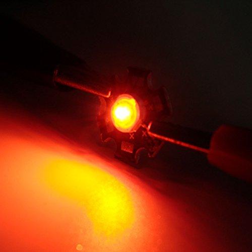 MASUNN 3W Hochleistungs-LED PCB Birne Perlen Chips Auto Indoor Lampe Aquarium Kühlkörper-gelb