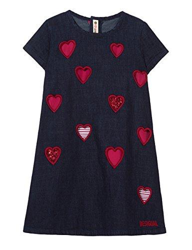 Desigual Mädchen Vest_AUSITN Kleid, Blau (Jeans Basic 5005), 164 (Herstellergröße: 13/14) (Jeans-kleid Mädchen-blaue)