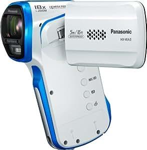 Panasonic HX-WA3EG-W wasserdichter Camcorder (6,6 cm (2,7 Zoll) LCD-Display, 16 Megapixel Foto Auflösung, Full HD, 5-fach opt. Zoom, USB 2.0, bis 5m wasserdicht) weiß
