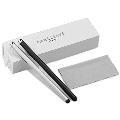 2x Luxus Eingabestifte - Massive Executive Style im hochwertigen Etui - mit Mikrofaser Reinigungstuch für alle Smartphones Tablets und Laptops mit Touchscreen (Pen Tablet Laptop)