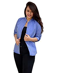 Aarti Collections Stylish Full Sleeves Light Blue Women's Denim Shirt