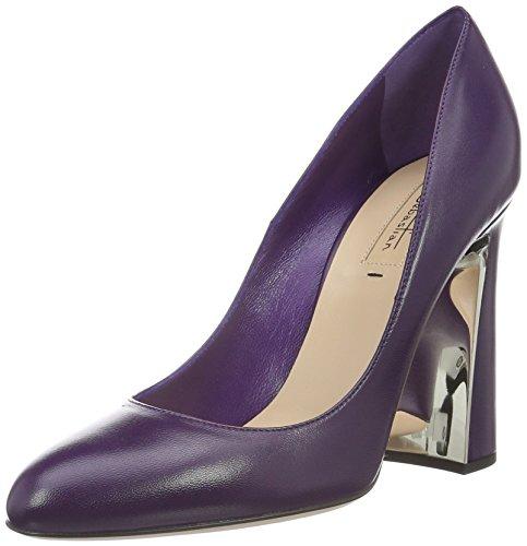 SebastianS7117 - Scarpe con Tacco Donna , Viola (Violett (Napaub/Oro)), 38 EU