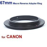 Deep-deal Anillo inversor objetivos 67mm para montura Canon EOS