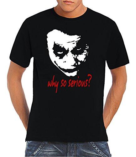 Touchlines T-Shirt Joker - Why So Serious? - Camiseta para hombre, Negro (black), XX-Large,Black