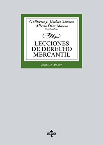 LECCIONES DE DERECHO MERCANTIL (20ª ED )