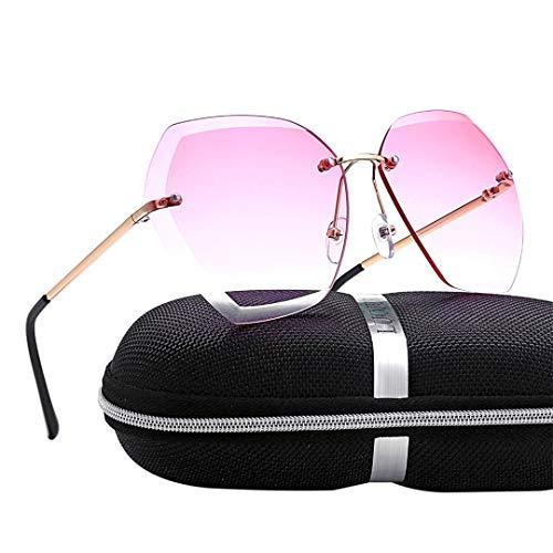 DAIYSNAFDN Mode randlos übergroßen schneiden objektiv Sonnenbrille Frauen getrimmt Shades Sonnenbrille Not Include Box N0.1