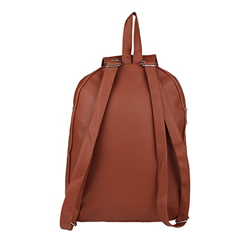 Tarshi Pu Brown Backpack For Women Image 4