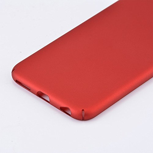 iPhone Case Cover Housse pour iPhone 6S, légère et mince couleur unie givré Plasitc dur étui de protection arrière pour Apple iPhone 6S ( Color : Black , Size : Iphone6 6s ) Red