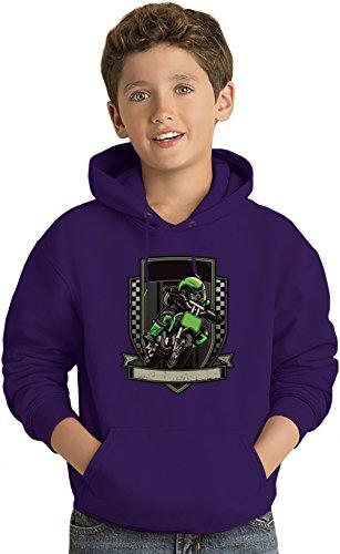 Green racer Kinder Leicht Kapuzenpullover Lightweight Hoodie For Kids | 80% Cotton-20%Polyester| 5-6 yrs