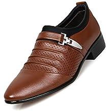 d780f2325e Tela de Lona de Negocios para Hombres Zapatos de Cuero Artificiales de la  PU Zapatos