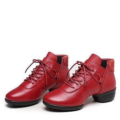 Wuyulunbi @ Donnes Dance Sneakers Boot Split Semelle Talon Bas Rouge Noir Blanc 1 Us7.5 / Eu38 / Uk5.5 / Cn38