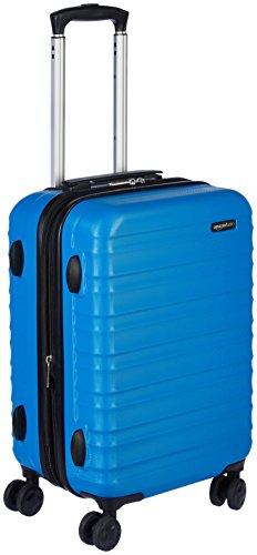 AmazonBasics Valise rigide à roulettes Taille cabine 55 cm, Bleu clair