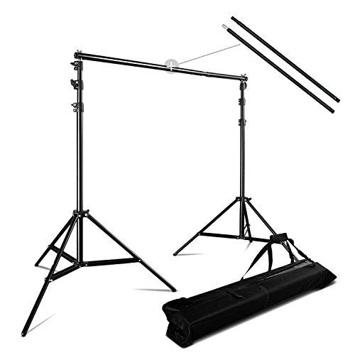 PHOTO MASTER Hintergrundsystem 3m x 2,8m Fotostudio Teleskop Hintergrund Studioset Tragtasche Stativ Aufhängungen 10x9FT