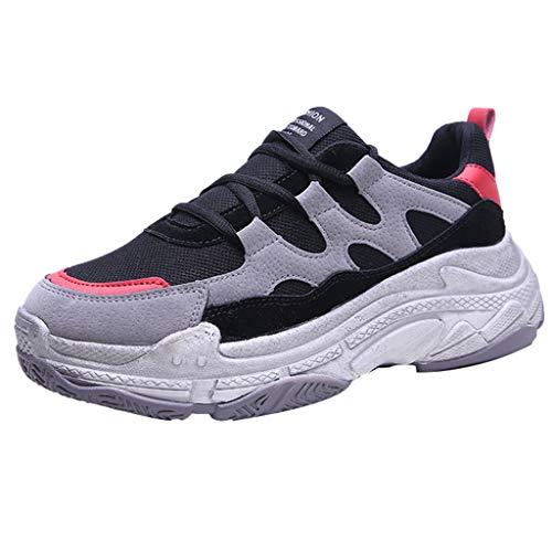 MMLC Sneakers Traspiranti in Tessuto da Uomo Donna Scarpe da Corsa Moda Unisex Scarpe Casual Traspirante Sneakers Running Basse Scarpe da Ginnastica