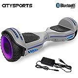 CITYSPORTS Hoverboard 6.5', Self Balancing Scooter avec Roue LED et Bluetooth Intégré, Moteur 2 * 350W