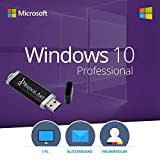 Windows 10 Pro 32 bit & 64 bit Bootable USB-Stick von Badge Art� - Original Lizenzschl�ssel Bild