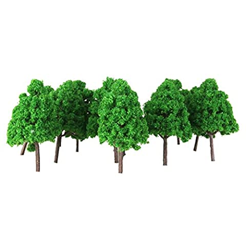 Gazechimp 25pcs Modellbäume Plastik 1: 150