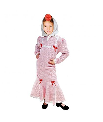 Disfraz Chulapa niña Blanco Lunar Rojo (2 años)