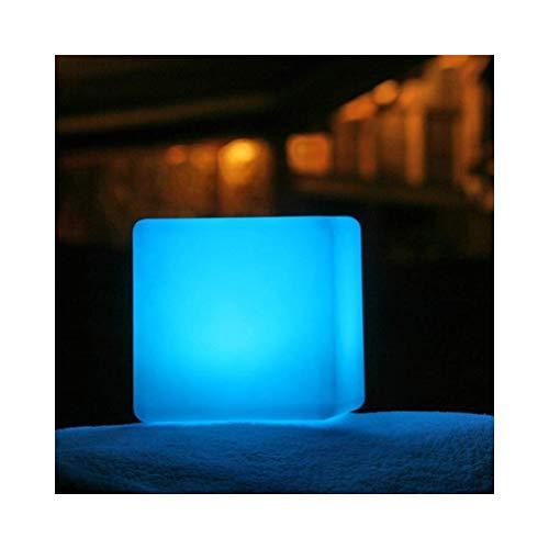 QYZHCP LED-Würfellichtschemel, Restauranttischlampe Im Freien Wasserdichtes Dekoratives Nachtinnenlicht, Bunter Aufladender Fernsteuerungsgarten, Hof, Swimmingpool (Size : 40 * 40 * 40cm)