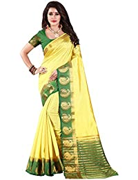 Nirja Creation Cotton Silk Saree With Blouse Piece (NC-OD-MANGO-04_Green_Free Size)