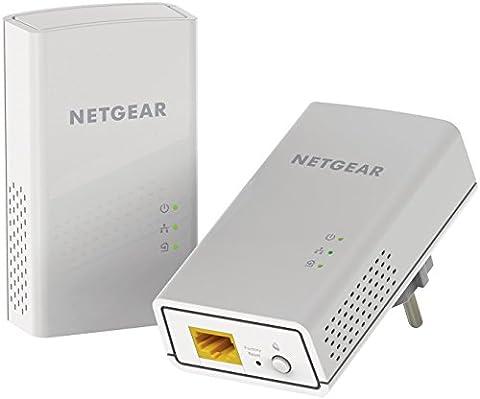 NETGEAR PL1200-100PES Pack de 2 Adaptateurs CPL 1200 Mbps Blanc
