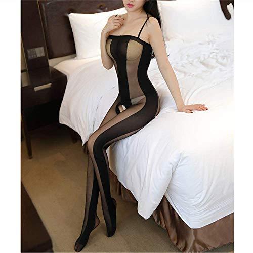 HUANG LI HAN Sexy Dessous Babydoll Geöffneter Schritt Transparente Dessous Sexy Hot Erotic Unterwäsche Kostüme Sex Kleidung Für Frauen schwarz One Size