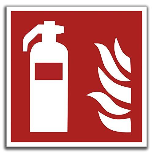 KAVARO 10 Stück Aufkleber Feuerlöscher nach ASR 1.3 Brandschutzzeichen Sicherheitszeichen [10cm]