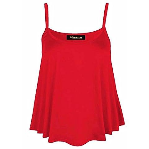 dreamzandjoyz - Débardeur - Sans Manche - Femme rouge Red M/L