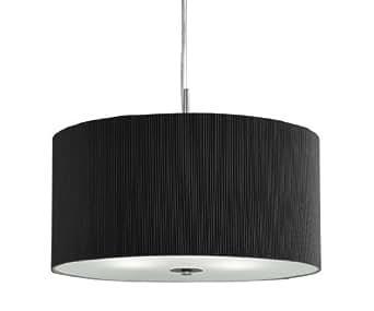 Tambour-Noir - 60 cm en tissu plissé suspension Houseoflights Lampe murale