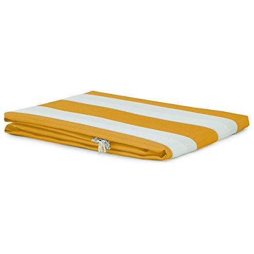 Tenda da sole con anelli 150x250 cm per esterno righe art. sophia m892 giallo