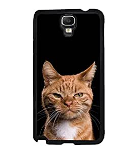 Fuson Designer Phone Back Case Cover Samsung Galaxy Note 3 Neo :: Samsung Galaxy Note 3 Neo Duos :: Samsung Galaxy Note 3 Neo 3G N750 :: Samsung Galaxy Note 3 Neo Lte+ N7505 :: Samsung Galaxy Note 3 Neo Dual Sim N7502 ( Haughty Kitty )